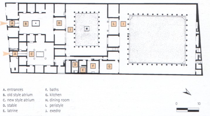 House of the Faun Floor Plan